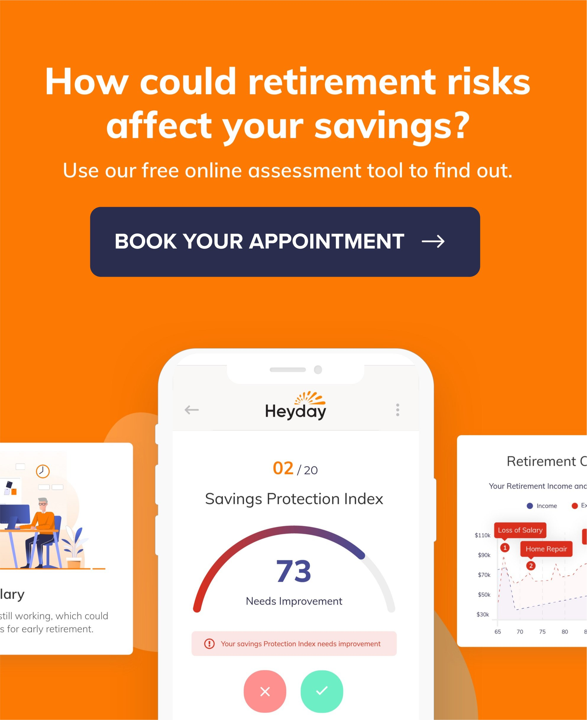 Try our free retirement risk assessment